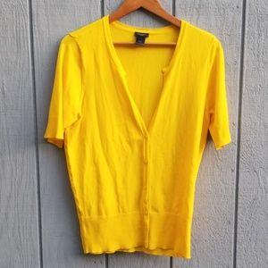 Ann Taylor Vibrant Yellow Cardigan